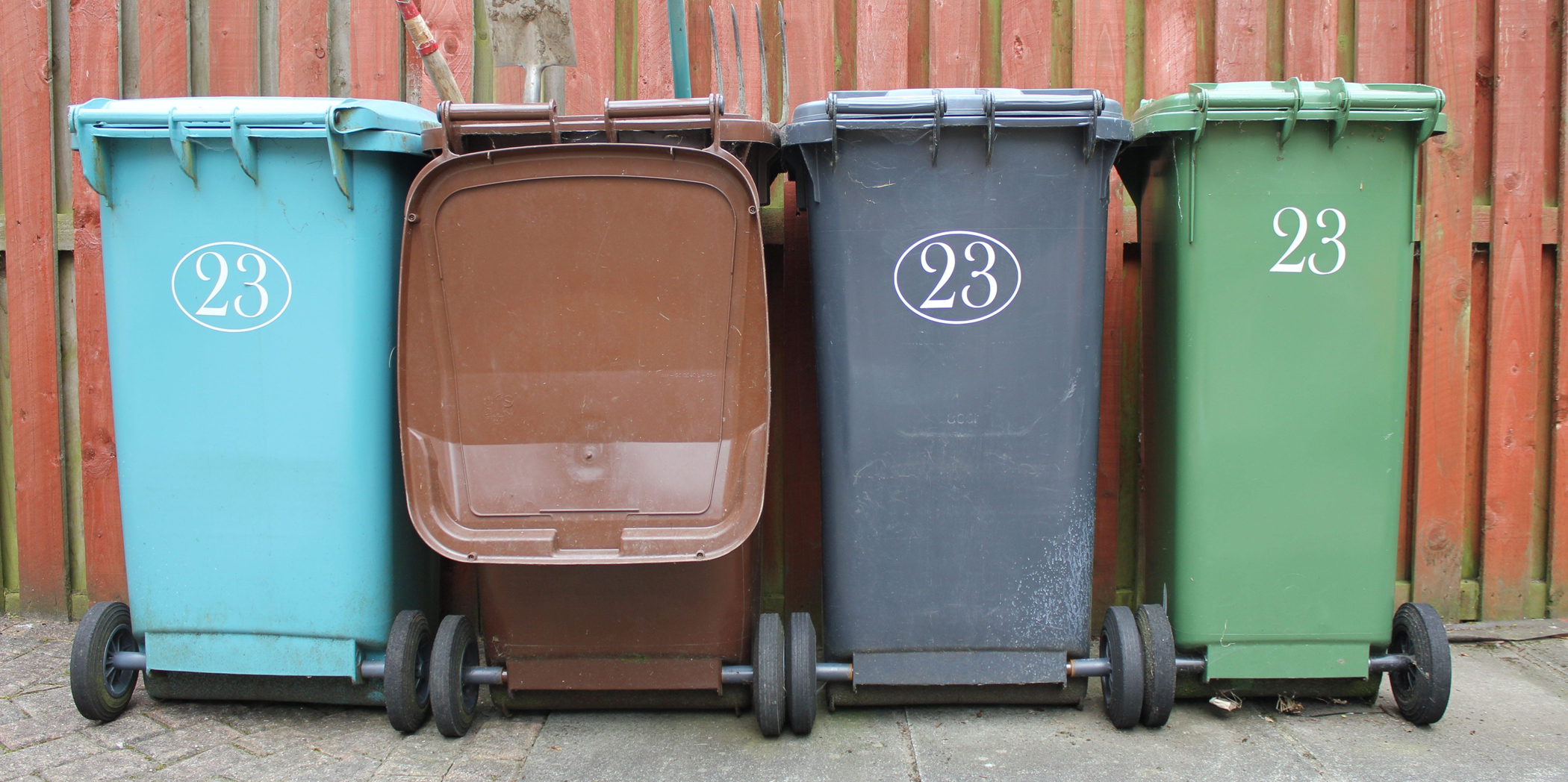 Four wheely bins